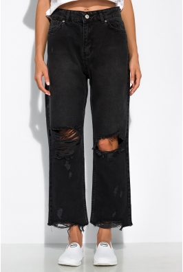 Рваные прямые джинсы 162P010