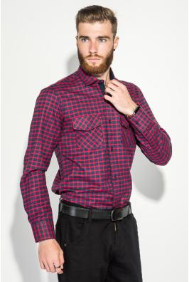 Рубашка мужская теплая, в клетку 50PD0041-3