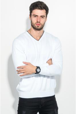 Пуловер мужской с полосой по вырезу 50PD360