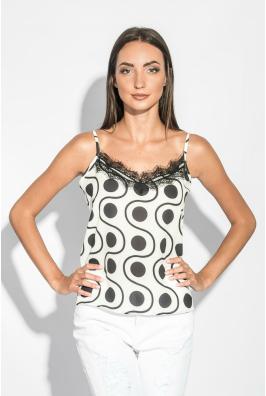 Майка-топ женская с кружевом на груди 212F055