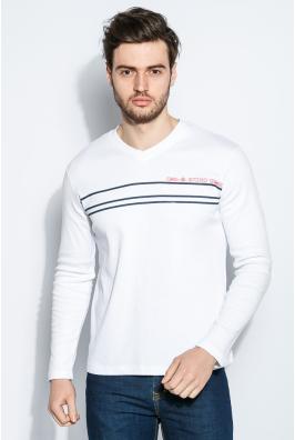 Пуловер мужской с полосками 415F014-3