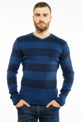Пуловер в крупную полоску 619F1875