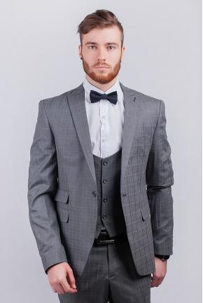 Пиджак серый классический №276F024
