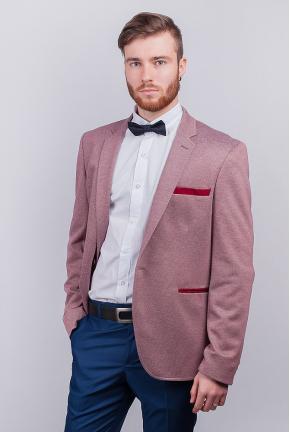 Пиджак мужской яркий, на одну пуговицу №276F013