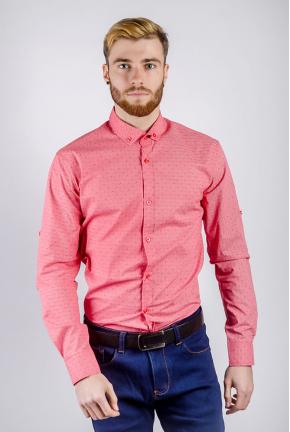 Рубашка мужская принтованная 222F077