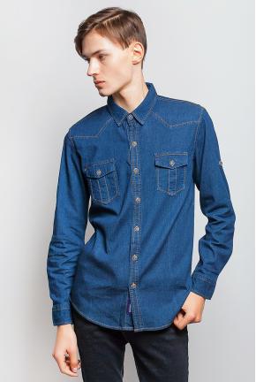 Рубашка мужская джинс 684K003