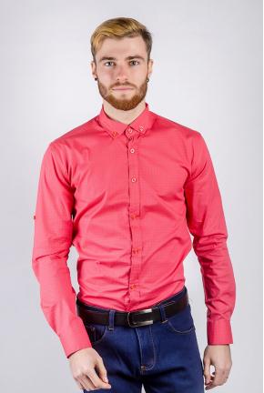 Рубашка мужская яркий цвет, принтованная 222F080