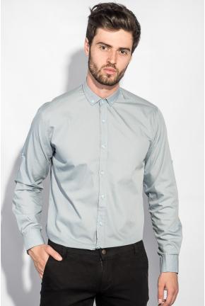Рубашка с длинным рукавом однотонная №208F008