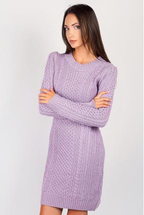 Платье женское вязаное с круглым вырезом 352K001
