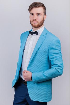 Пиджак мужской яркий, на одну пуговицу  №276F010