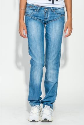 Джинсы женские с вышивкой на задних карманах 19PL124