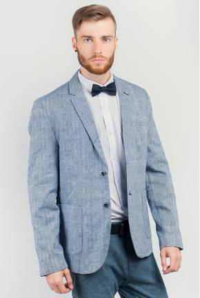 Пиджак светлый мужской на две пуговицы №197F009