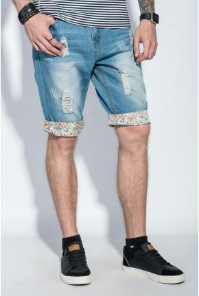 Шорты мужские джинс с подворотами 105V001-1