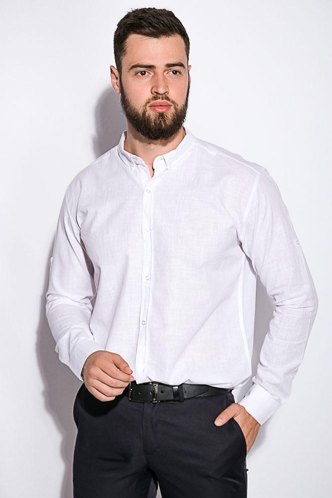 Деловая однотонная рубашкка 511F018