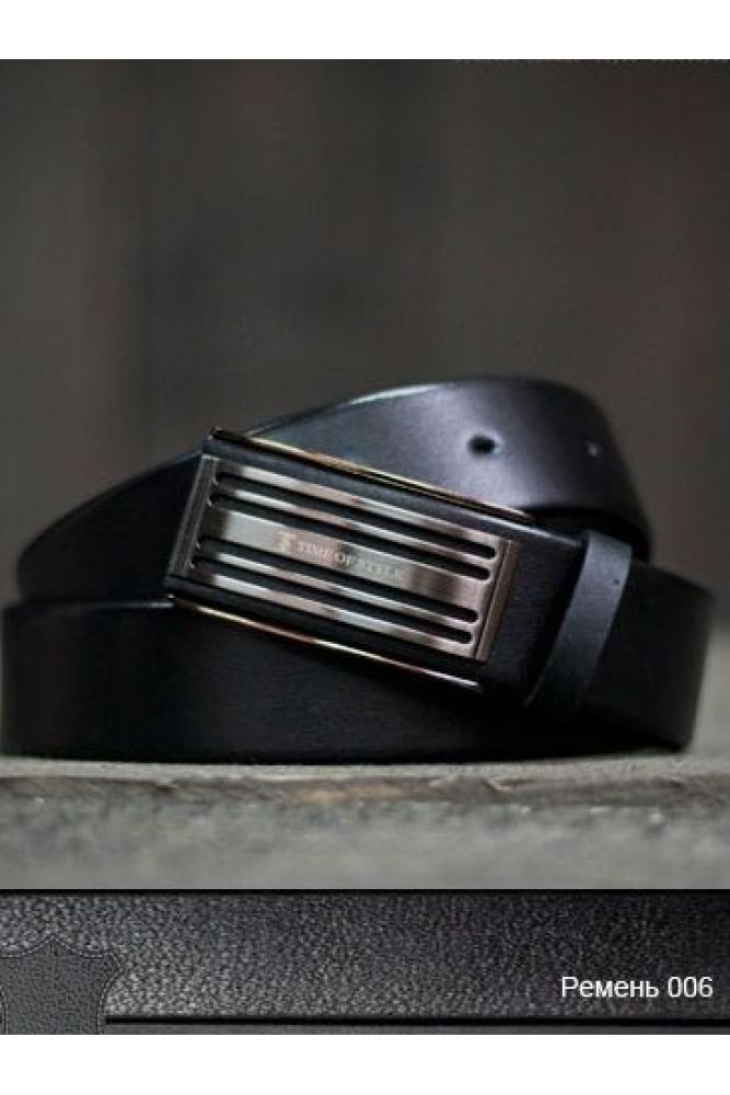 Ремень кожаный 03006 черный