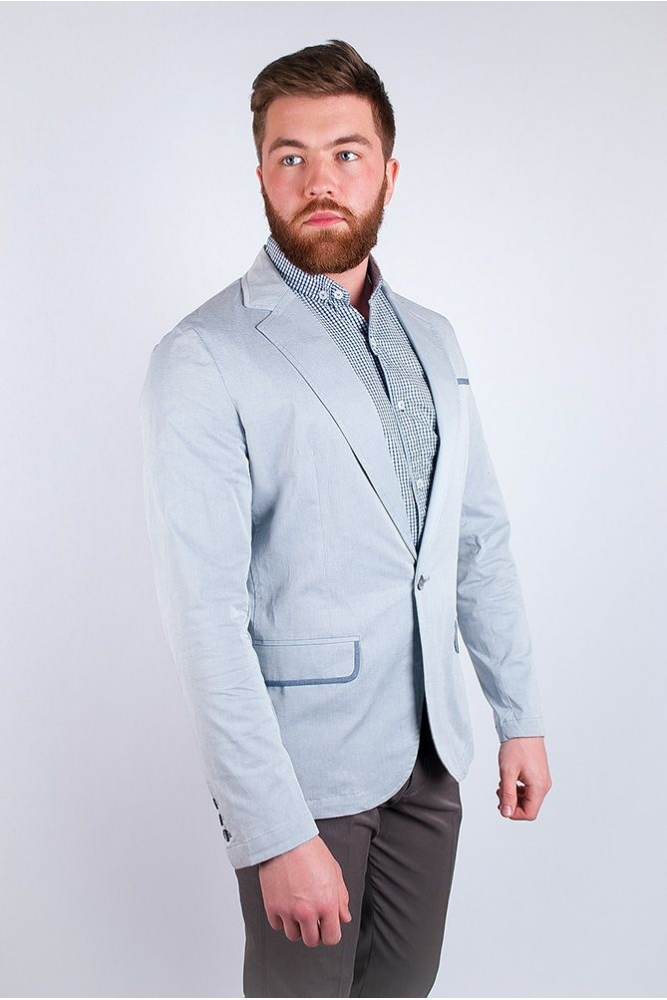 Пиджак светлый летний №158F008 белый