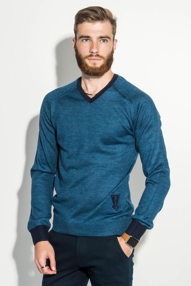 Пуловер мужской с нашивкой 50PD470