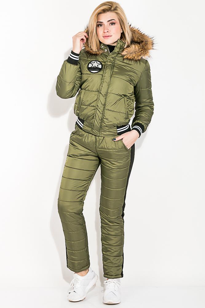 Костюм женский теплый с манжетами на рукавах 77PD859
