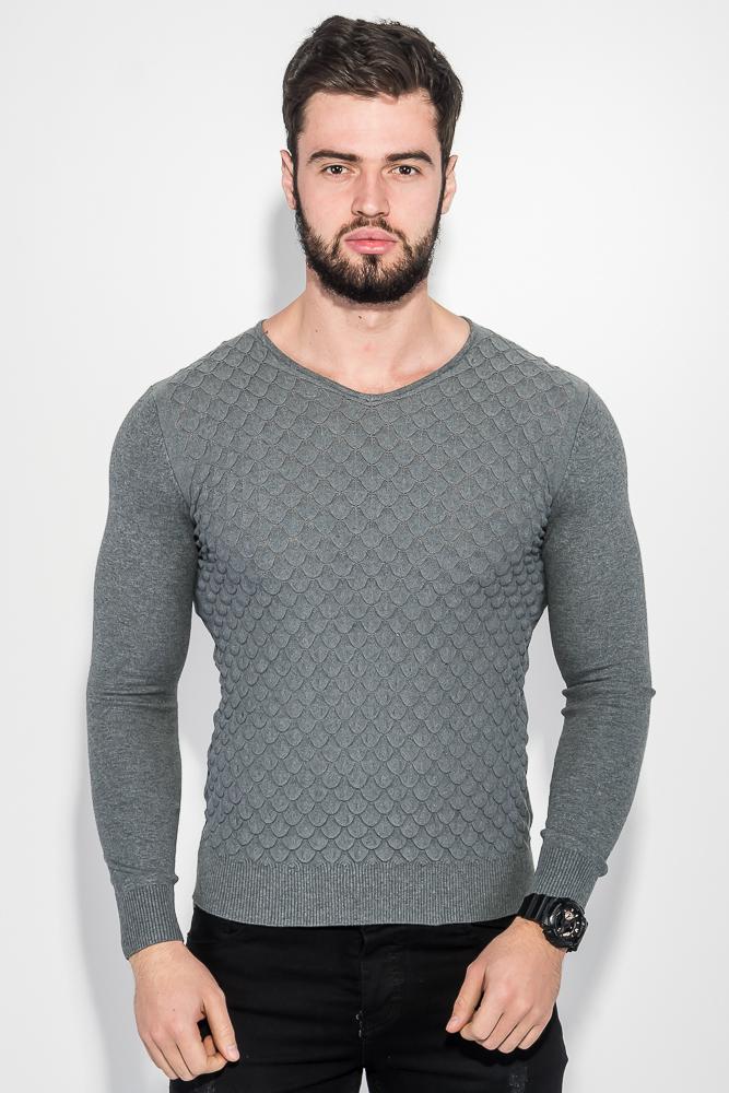 Пуловер мужской фактурный узор 50PD3421