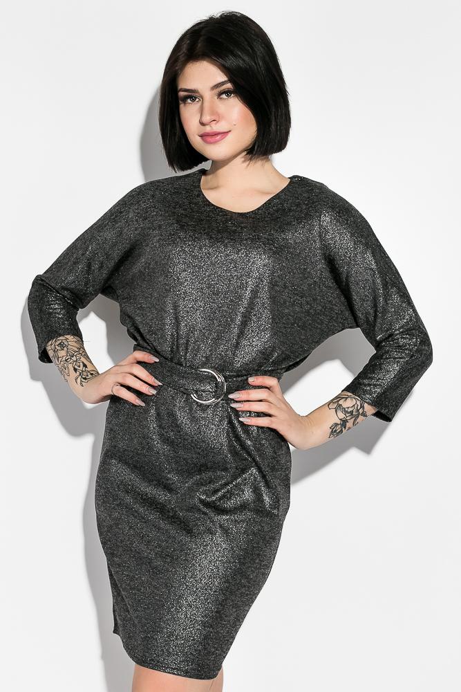 Платье (полубатал) с люрексом  95P7084-1