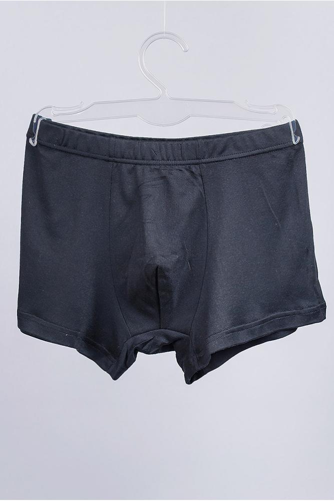 Трусы однотонные мужские, боксеры 19P018 junior черный