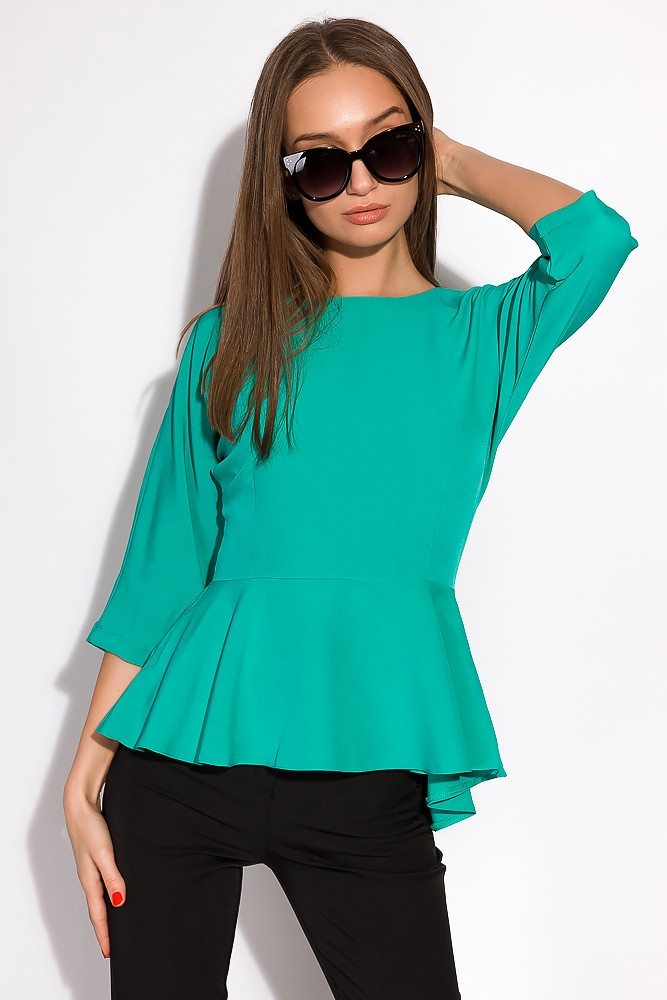 Блуза однотонная 148P32