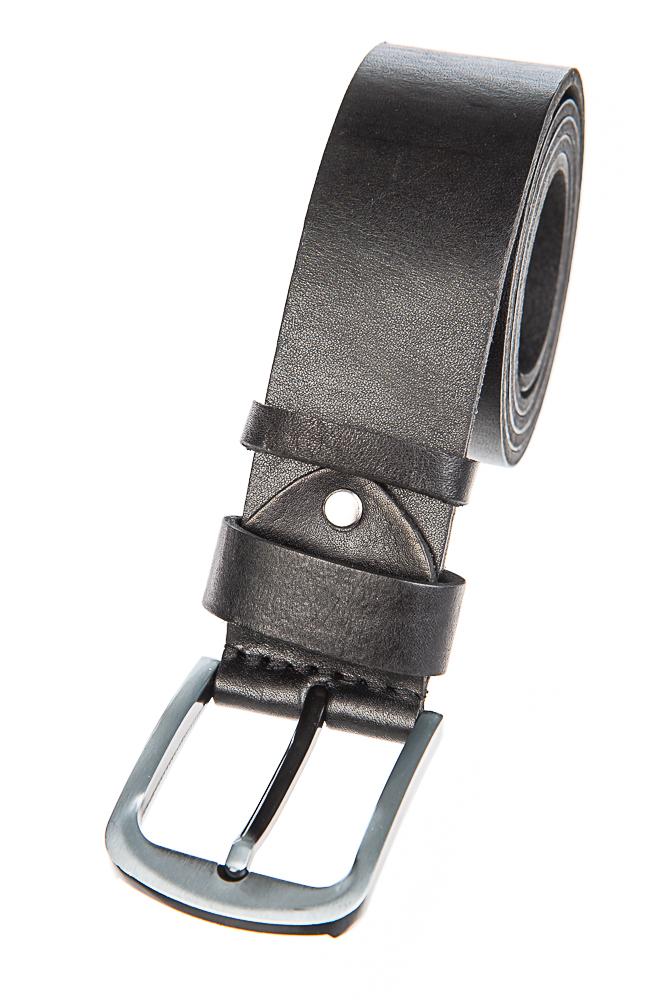 Ремень с классической пряжкой серебристого цвета  97P006-1