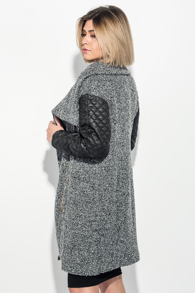 a41da47edfe Пальто женское со стеганными рукавами