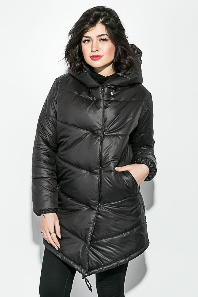 Куртка женская удлиненная, с глубоким капюшоном 69P0811