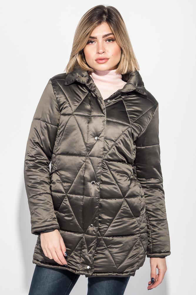Куртка женская на кнопках и молнии, высокий ворот 68PD503