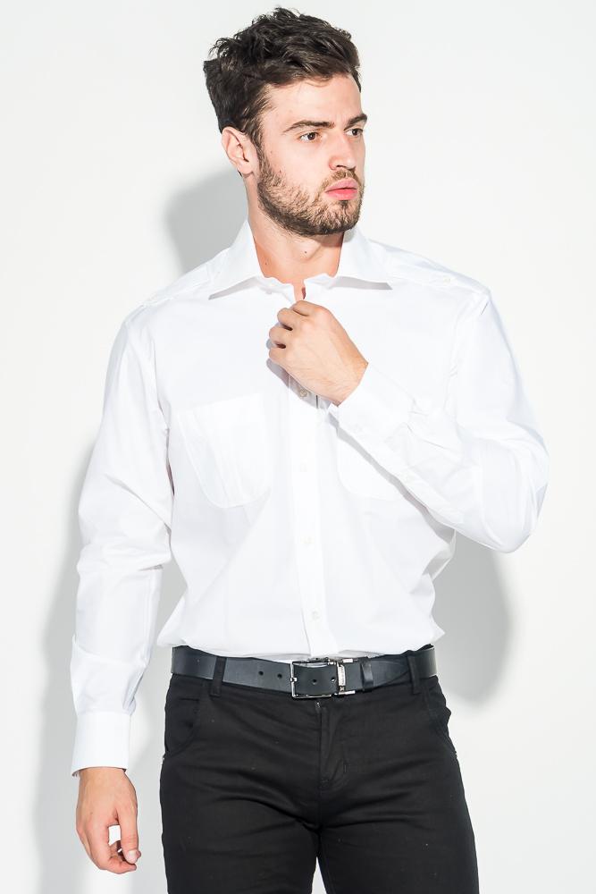 Рубашка мужская с двумя карманами 50PD10102