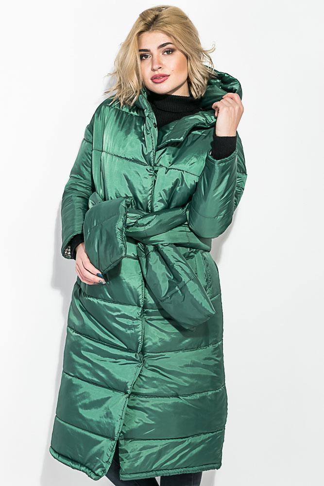 922646904dda Пальто женское на синтепоне, с широким поясом 72PD215 купить дешево ...
