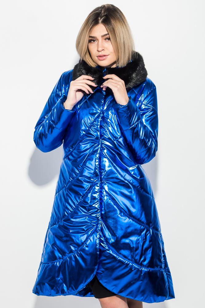 Куртка женская с мехом, блестящие 69PD1061