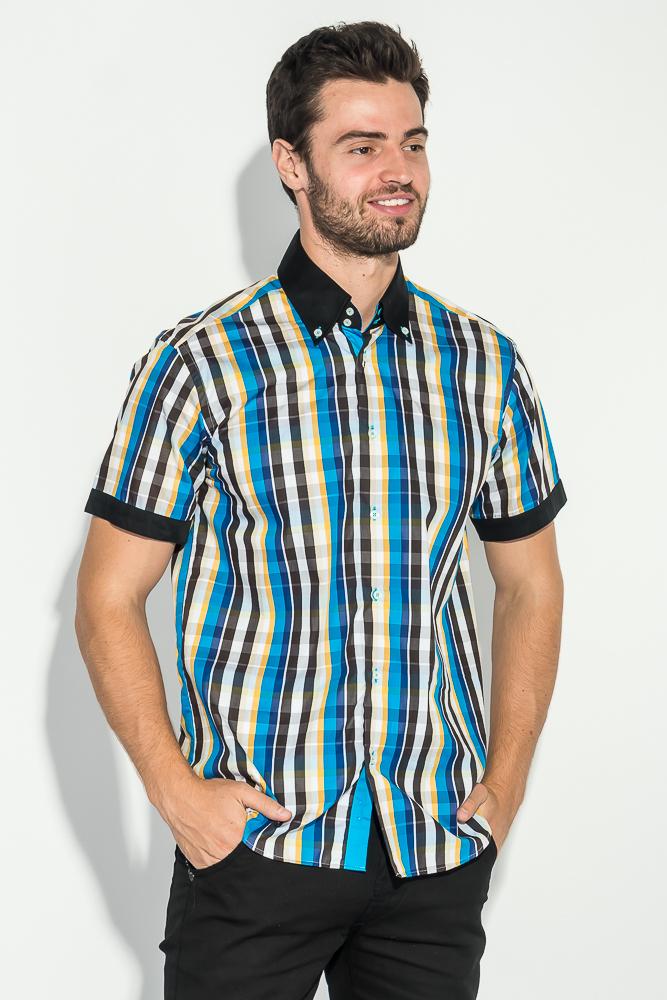 Рубашка мужская с однотонным воротником 50P009