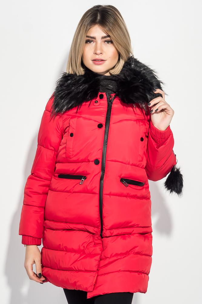 Куртка женская «Трансформер» с контрастным мехом 315V001-1