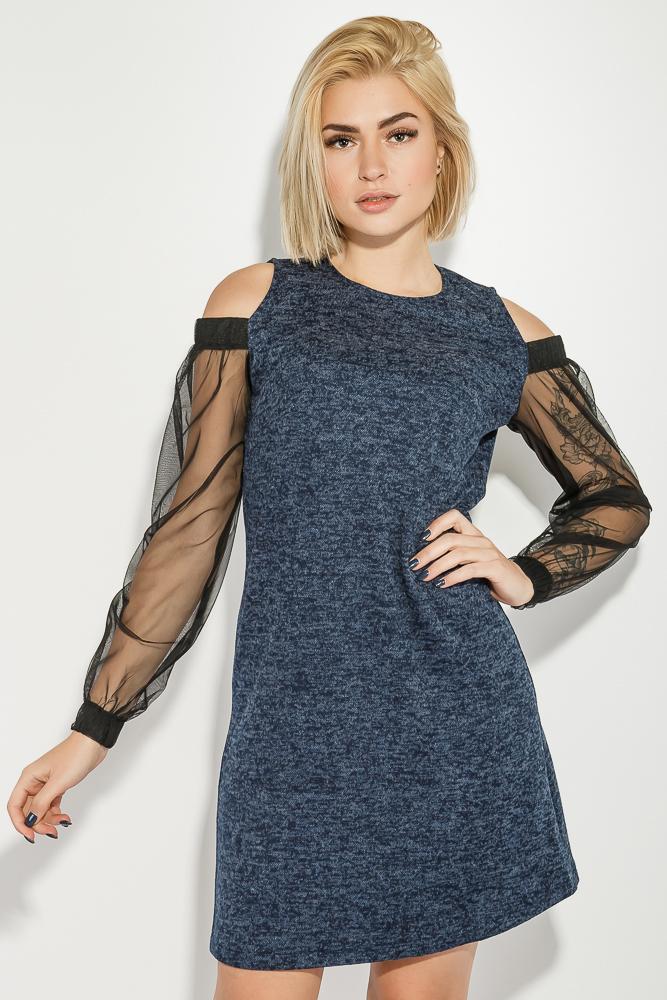 Платье женское с вырезами на  плечах  64PD2681-1