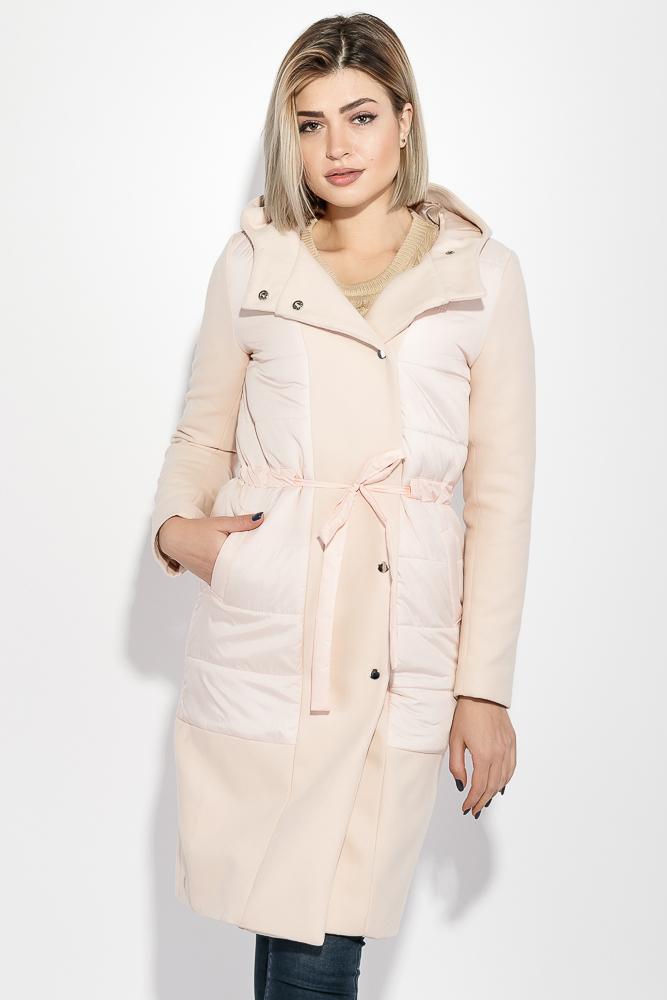 Пальто женское демисезоннное, с капюшоном  69PD1048