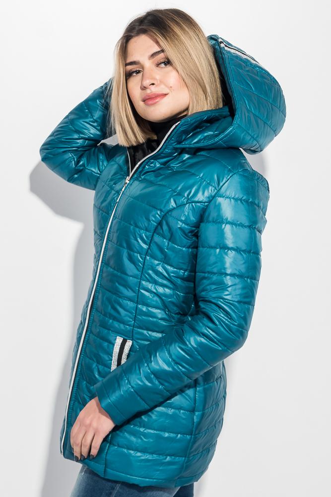 Куртка женкая длинная, с нашивками на карманах 76PD1114