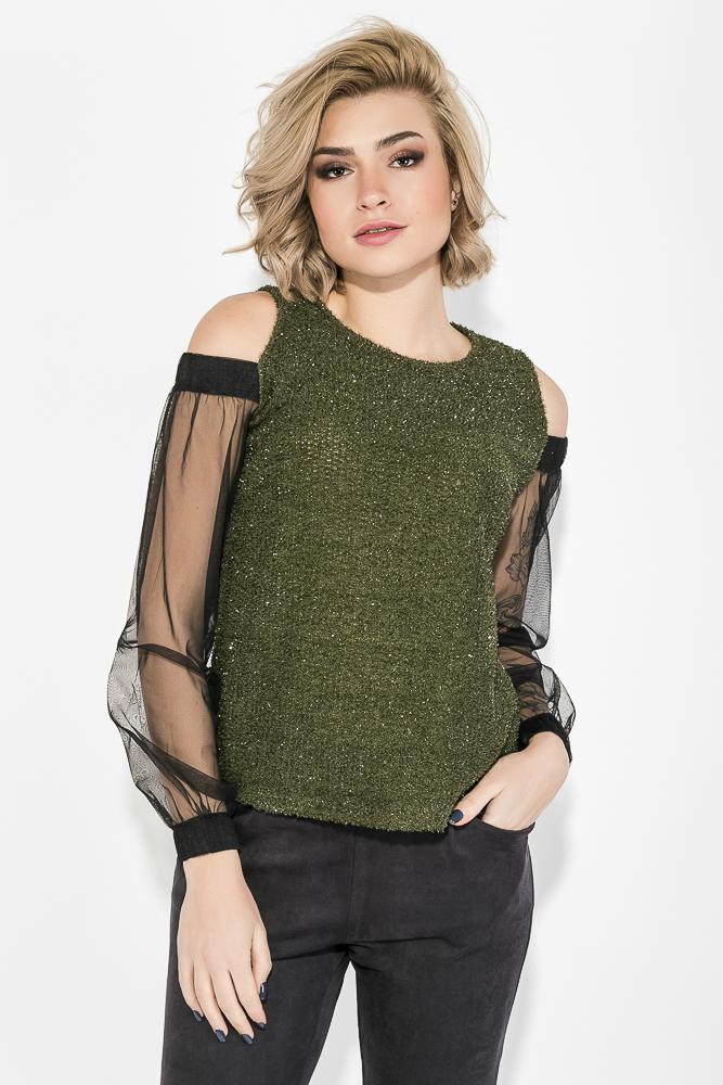 Блузка женская с приоткрытими плечами 64PD268