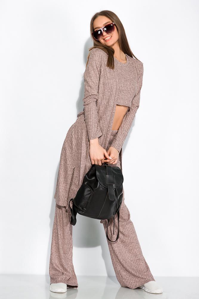 Комплект (кардиган, топ и штаны) женский с люрексом 120PSS009