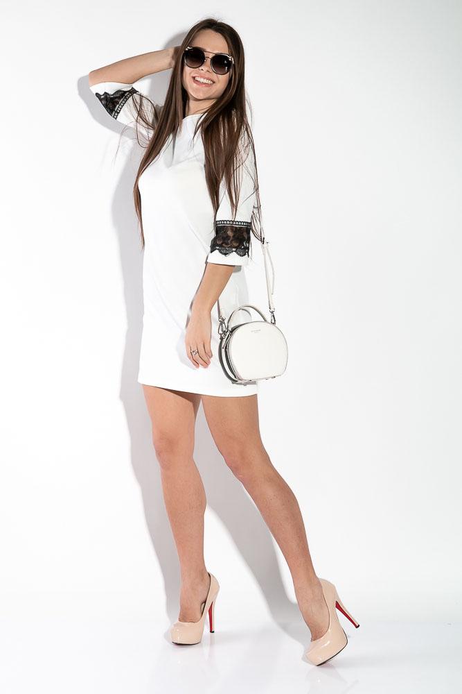 Платье женское с кружевом на рукаве  5700