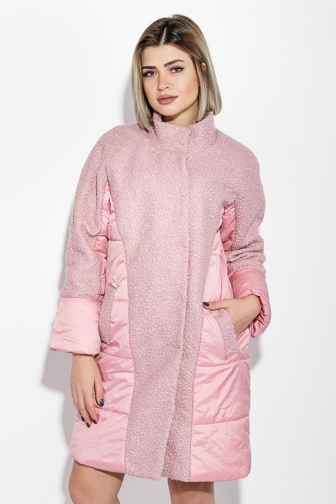 Пальто женское двухфактурное, стройный силуэт 69PD1056