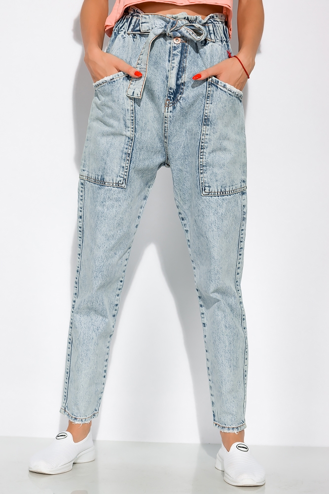 Женские джинсы с очень завышенной посадкой 162P025