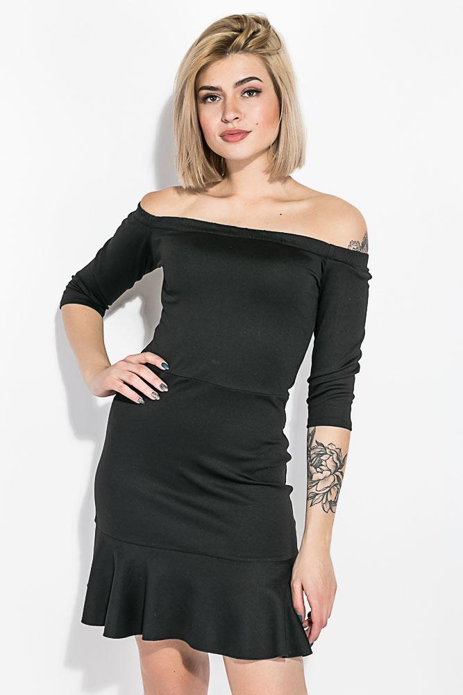 Платье женское с опущенными плечами  64PD276-1