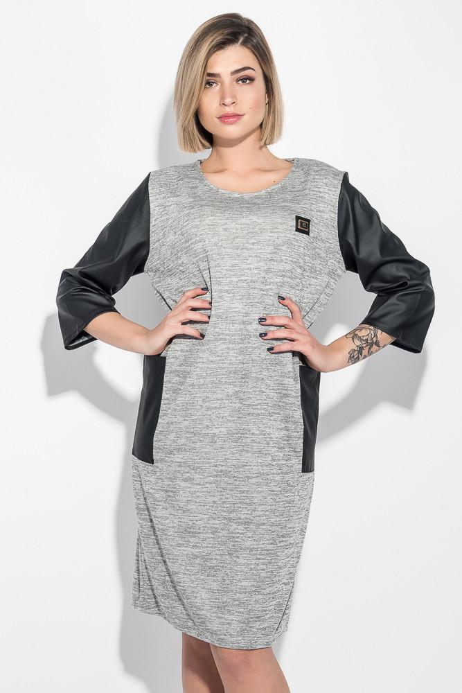Платье женское (батал) с молнией на спине и боковыми карманами 74PD317