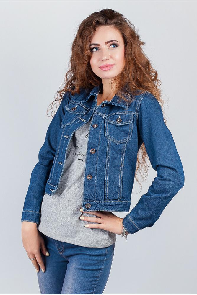 Куртка классическая джинсовая женская 406K001