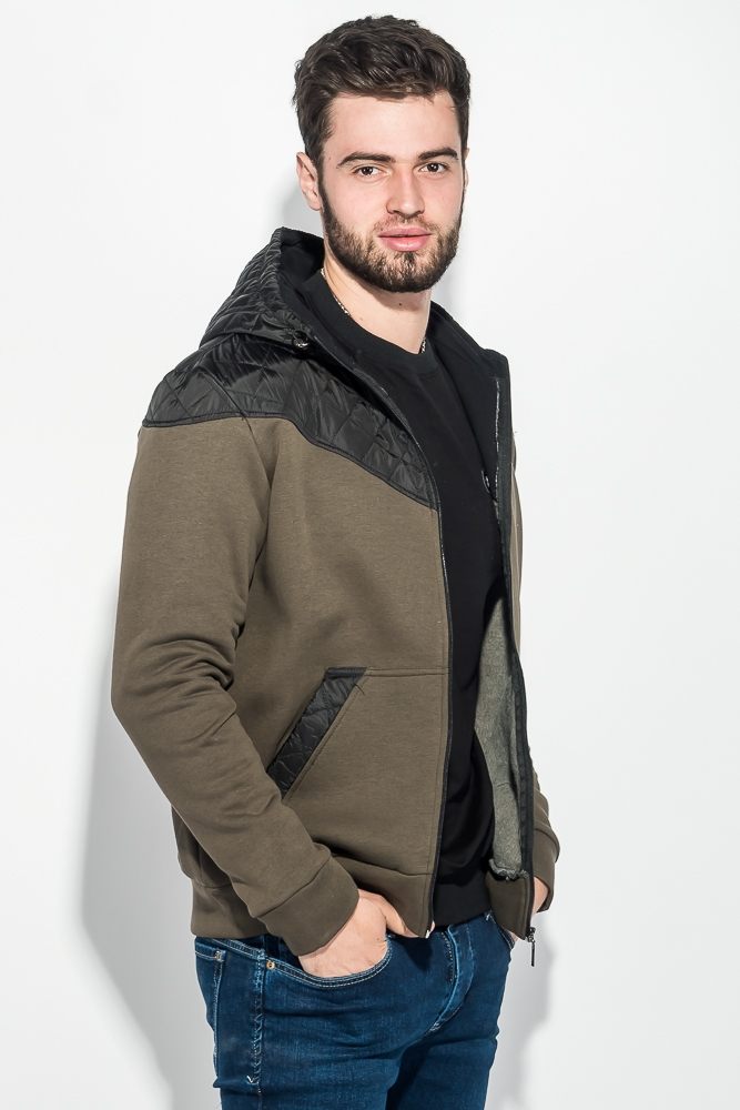 Толстовка мужская с капюшоном, стеганный верх 70PD5003