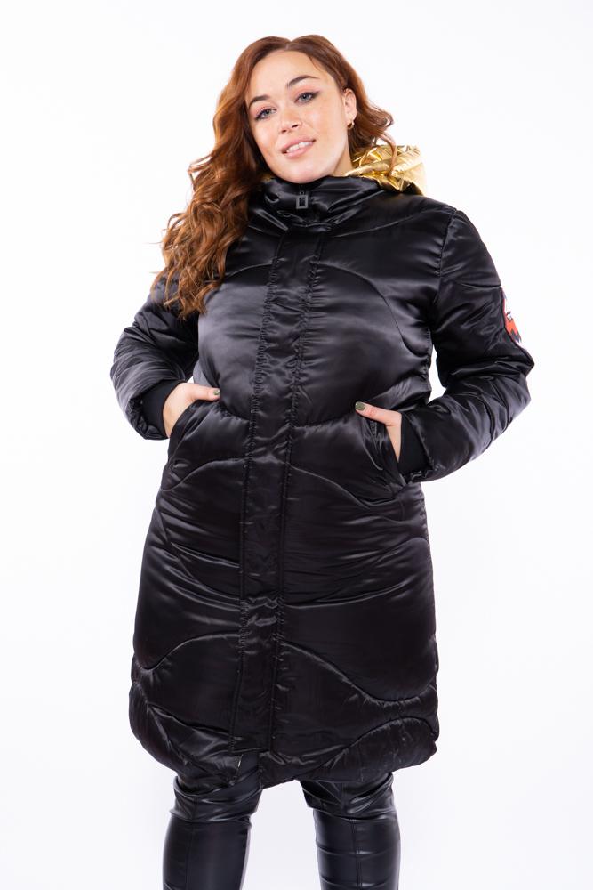 Куртка женская с золотым капюшоном 120PSKL837