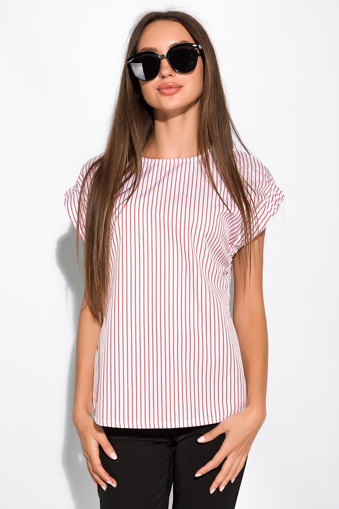 Блуза в полоску на молнии 120PKRM203-2