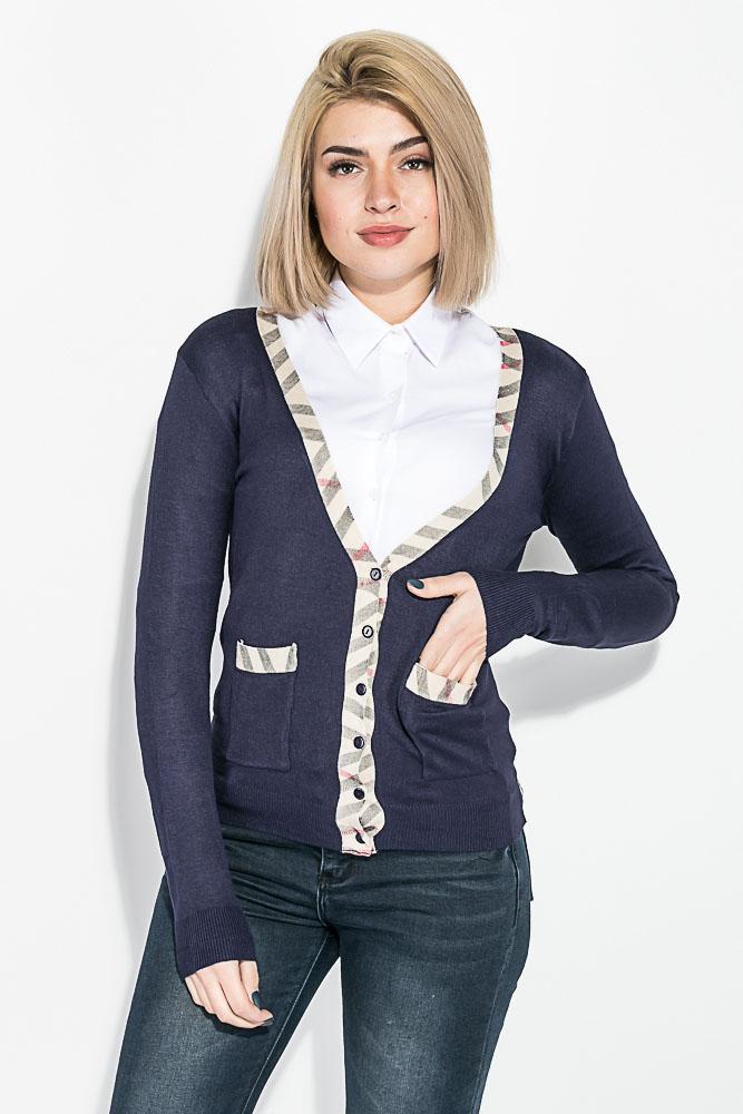 Кофта женская на пуговицах, с карманами 81PD02